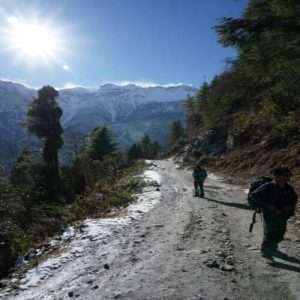 On the way to Annapurna circuit