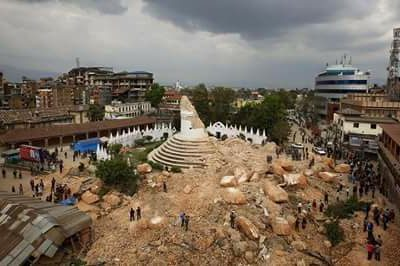 Damage Dharahara after erathquake 2072 BS