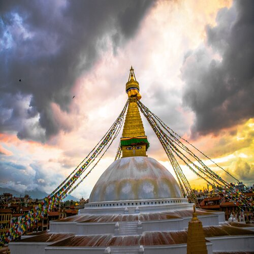 UNESCO world heritage Boudhanath stupa