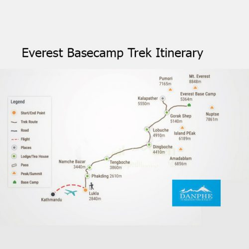 Everest Basecamp Route Map